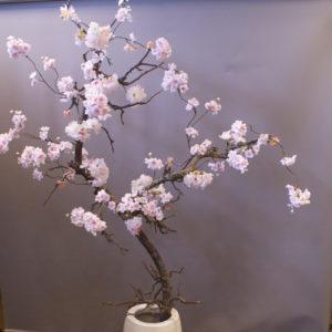 kunst bloesemboom zacht roze