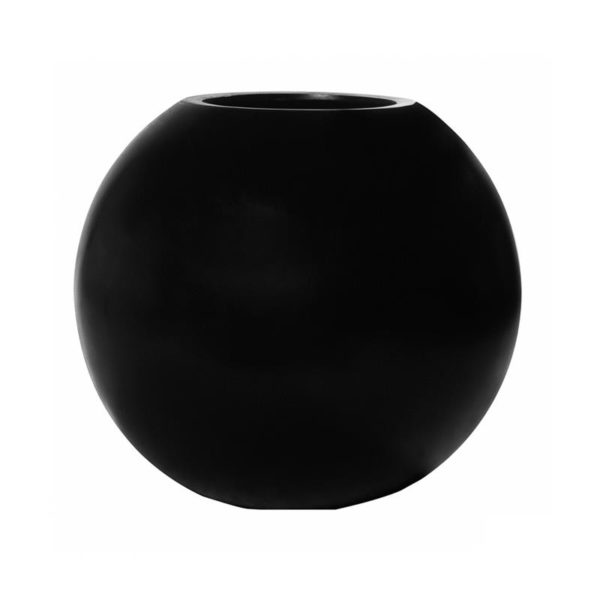 bolpot mat zwart 50 cm