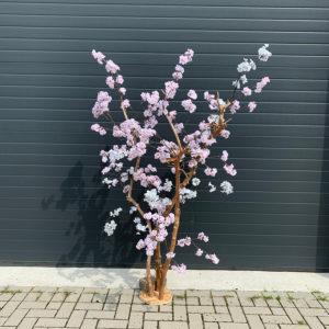 Roze kunstbloesemboom 3 takken
